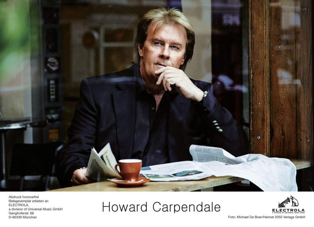 Pressebild Howard Carpendale im Cafe
