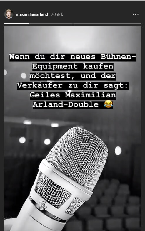 Maximilian Arland wird verwechselt!