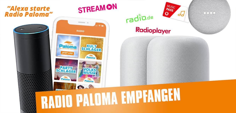 Radio Paloma Schlager empfangen. So geht es